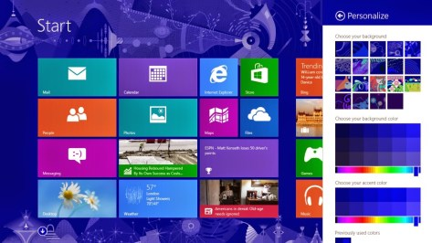 Windows 8 Pro 8.1 Desktop Kacheln 2