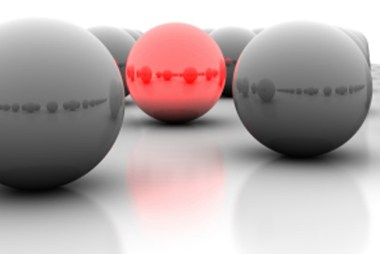 Black balls with one red ball