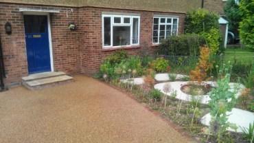 Transforming a front garden to a contemporary drive.