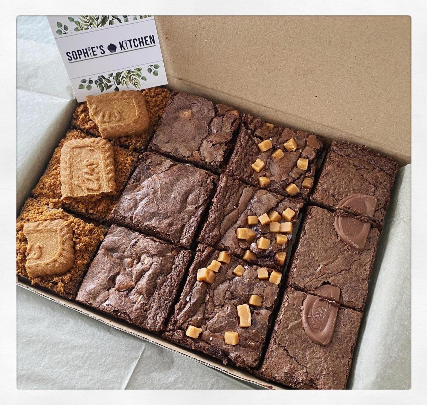 Letterbox Brownies Valentines Gift