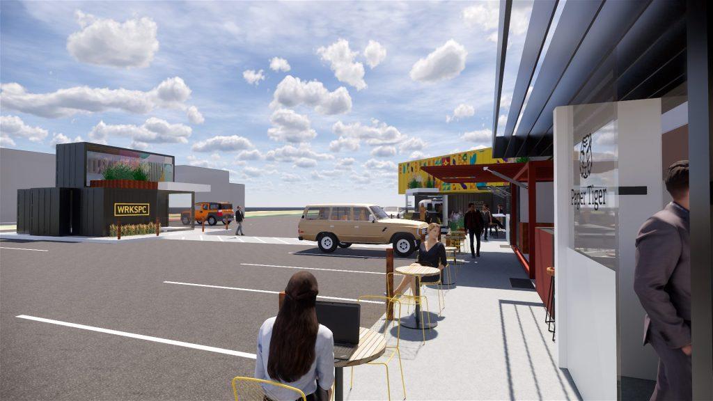 District Expansion into Parking Lot
