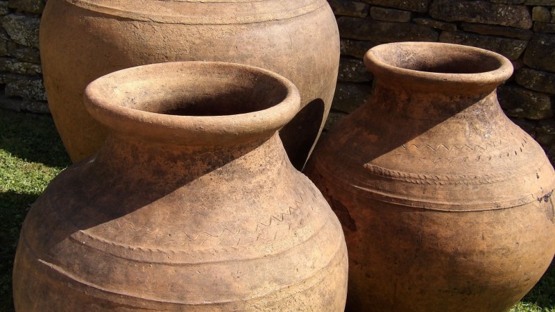 Large Square Terracotta Pots