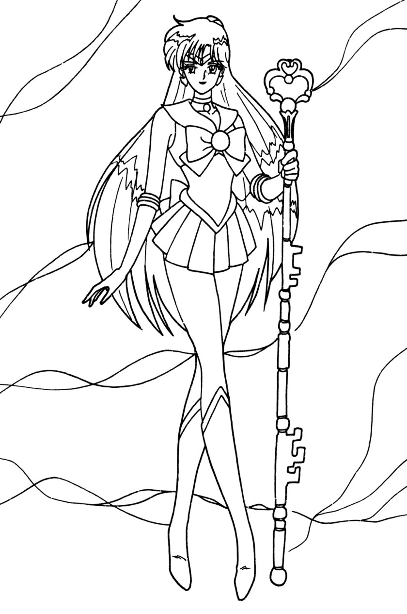 sailor saturn coloring pages coloring pages