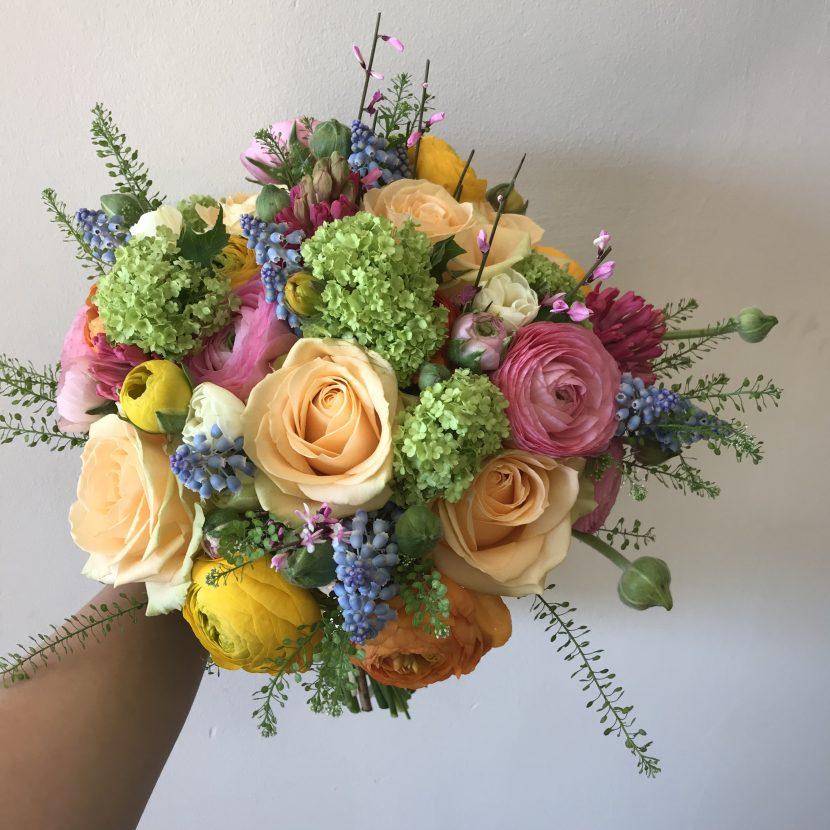 Wedding Holly Ivy Flowers April Commission Of Fresh Seasonal Bouquet In Marlow Buckinghamshire