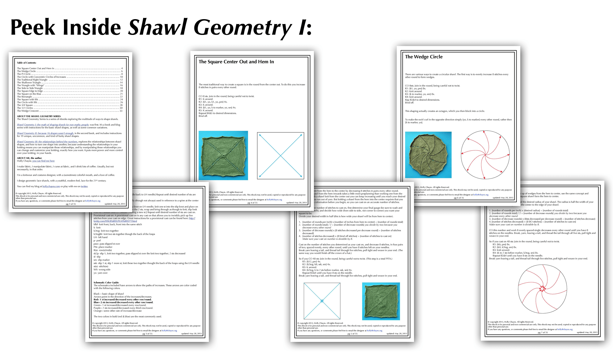 Holly Chayes The Shawl Geometry Books