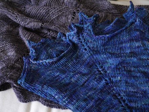 Yuki knitted shawl 1