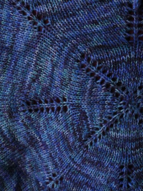 Yuki knitted shawl 2