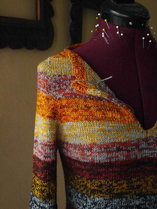 colorful knitted sweater