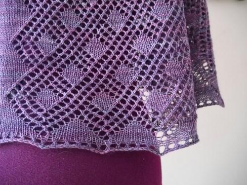 lace shawl hem - Rosmerta pattern
