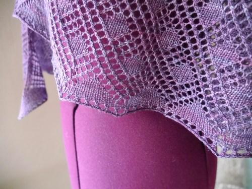 "lace shawl hem - pattern ""Rosmerta"""