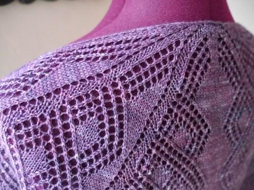 hand knit shawl - Rosmerta Pattern