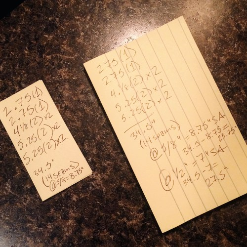 post-it note calculations