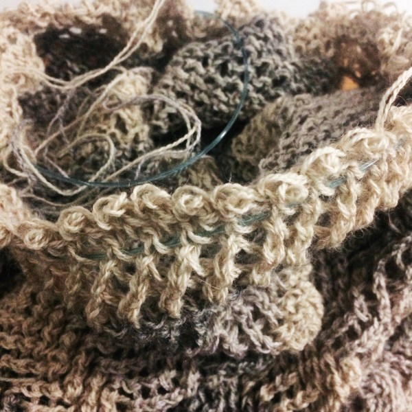 unknitting to reknit