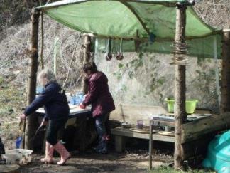 Mud Kitchen -Easter2016