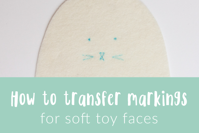 Holly McBride Workshop | Transferring markings for soft toy faces | hollymcbride.com
