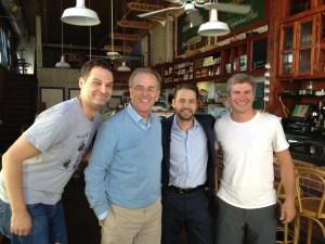 Jason Priestley, Terry David Mulligan,  Onrait and Dan O'Toole Hollywood and Vines TV shoot in LA