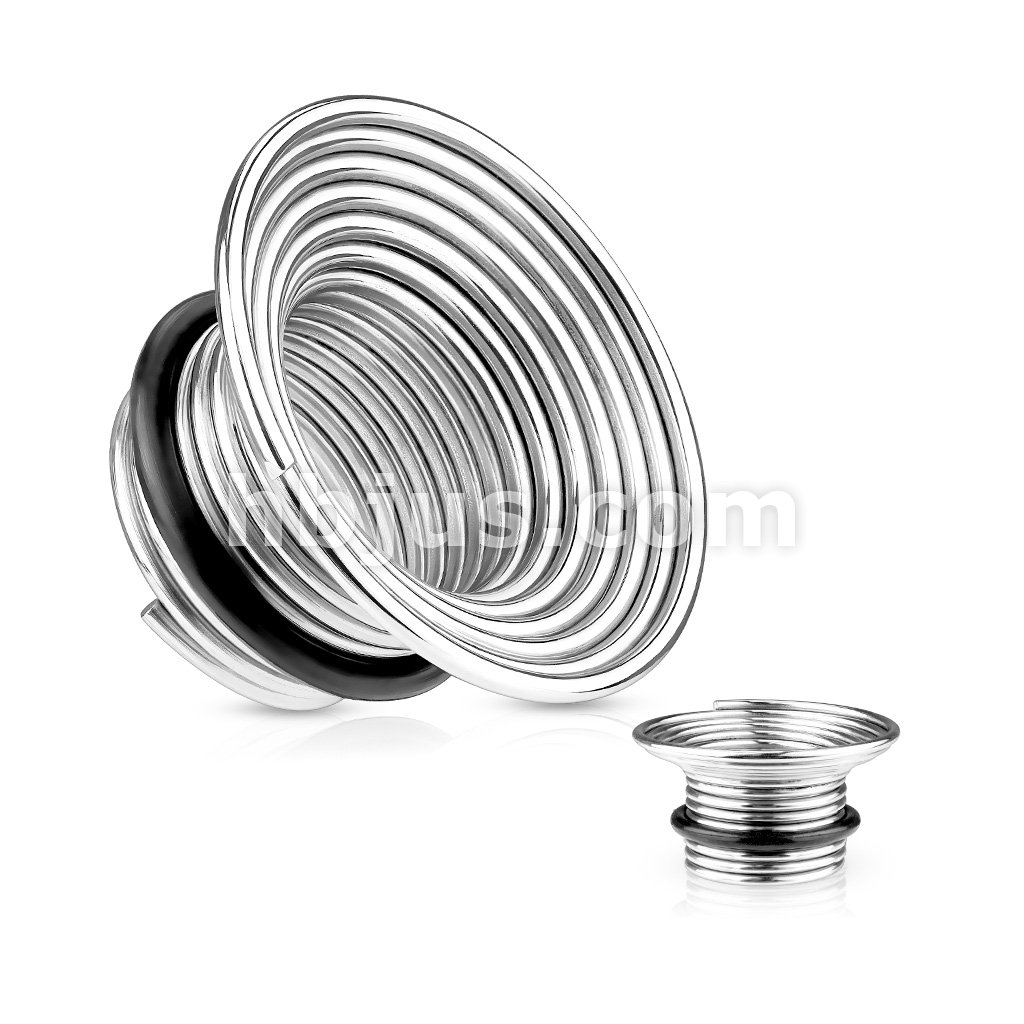 Singel Flare 316l Surgical Steel Wire Coil Tunnel Plugs