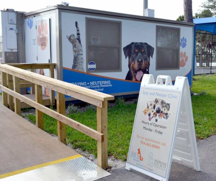 Portable spay/neuter unit moves to hollywood; now booking appointments