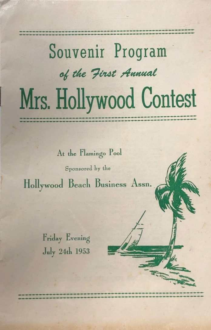 Program from the Mrs. Hollywood Competition in 1953