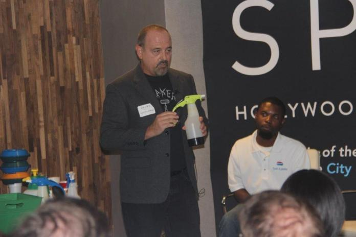 Budding entrepreneurs pitch business ideas at shark tank-style event