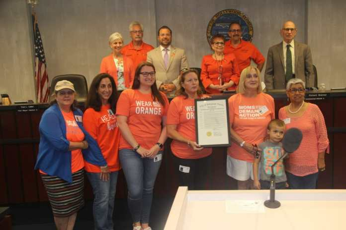 Hollywood commission issues proclamation for gun violence awareness day