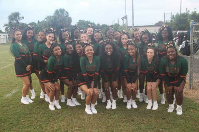 McArthur cheerleaders promote school spirit