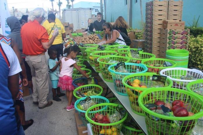 Holiday food distribution event at Washington Park Community Center