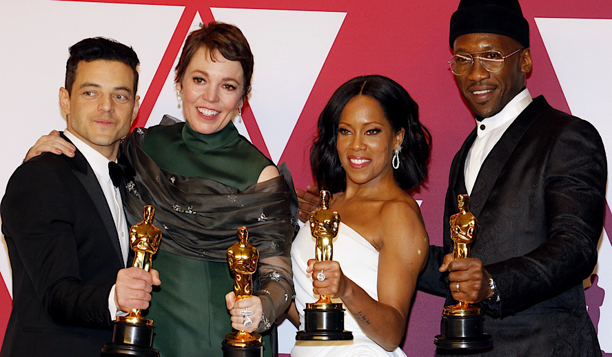 Hollywood Insider 91st Oscars 2019 winners Diversity Rami Malek, Olivia Colman