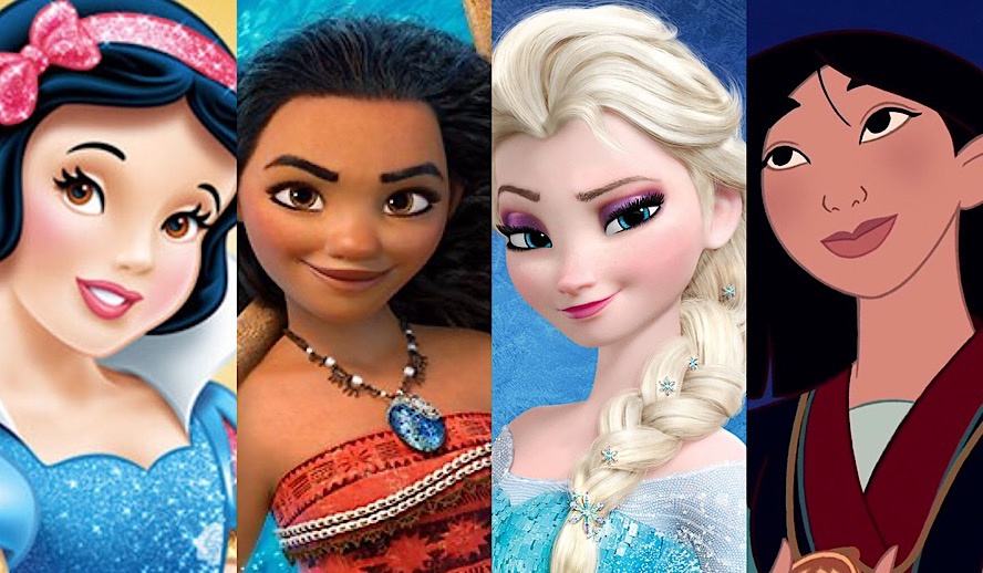 Hollywood Insider Disney Princess Snow White, Moana, Elsa Frozen, Mulan
