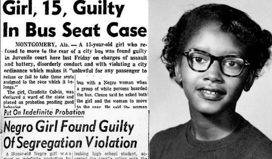 Hollywood Insider Unsung Heroes Series Claudette Colvin, Rosa Parks, African American, Segregation