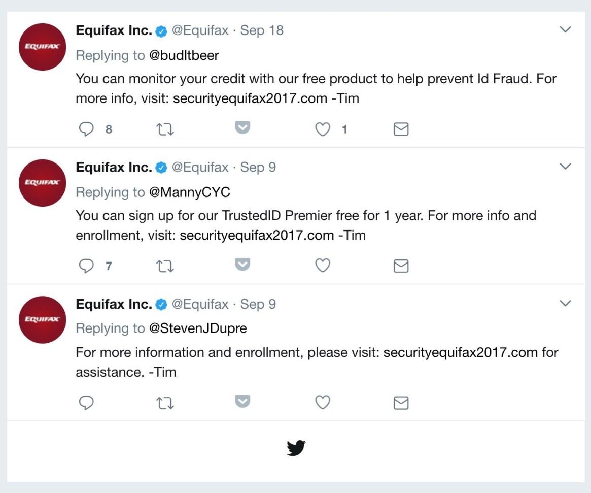 Equifax phishing site