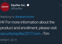 Equifax Officially Links to Phishing Site!!!