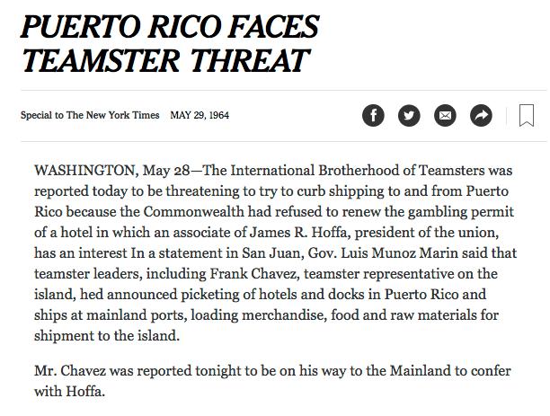 Puerto Rican Teamsters
