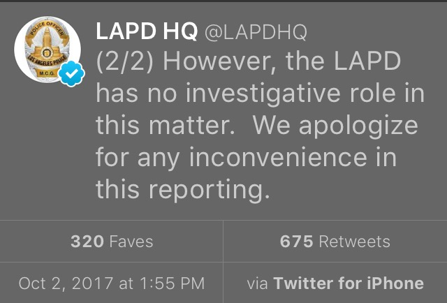 LAPD on Tom Petty's Death