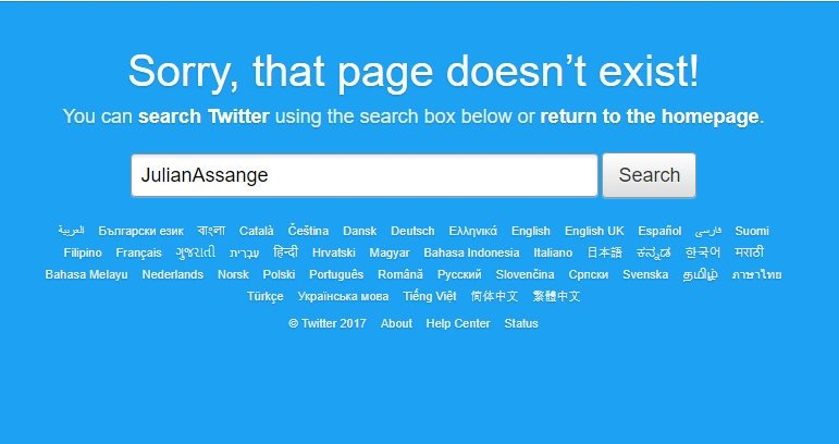 Julian Assange on Twitter - Hacked?