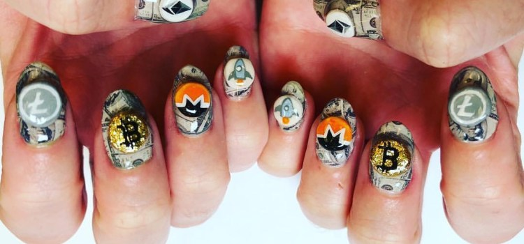 Katy Perry Bitcoin Manicure