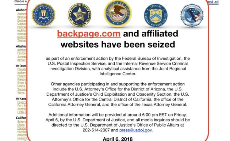 Backpage.com Domain Seized