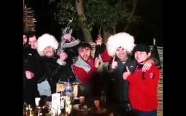 Khabib Fans with Papakhas