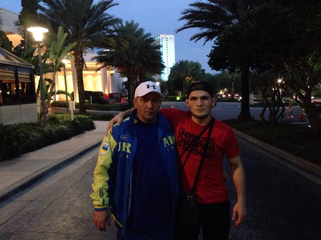 Khabib with uncle Alex Nurmagomedov