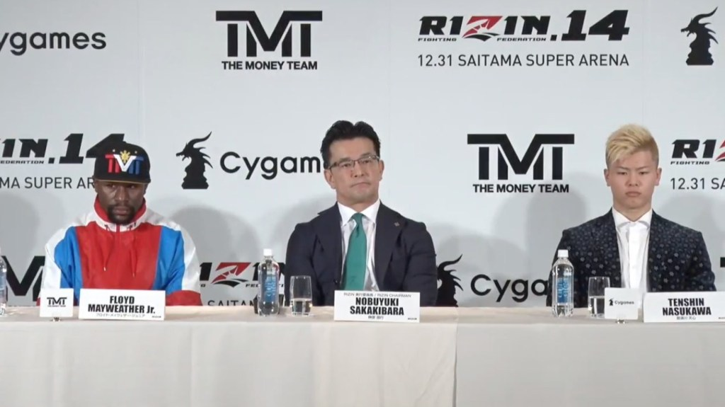 Mayweather Tenshin press conference