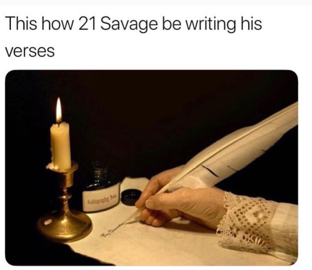 funny 21 Savage meme