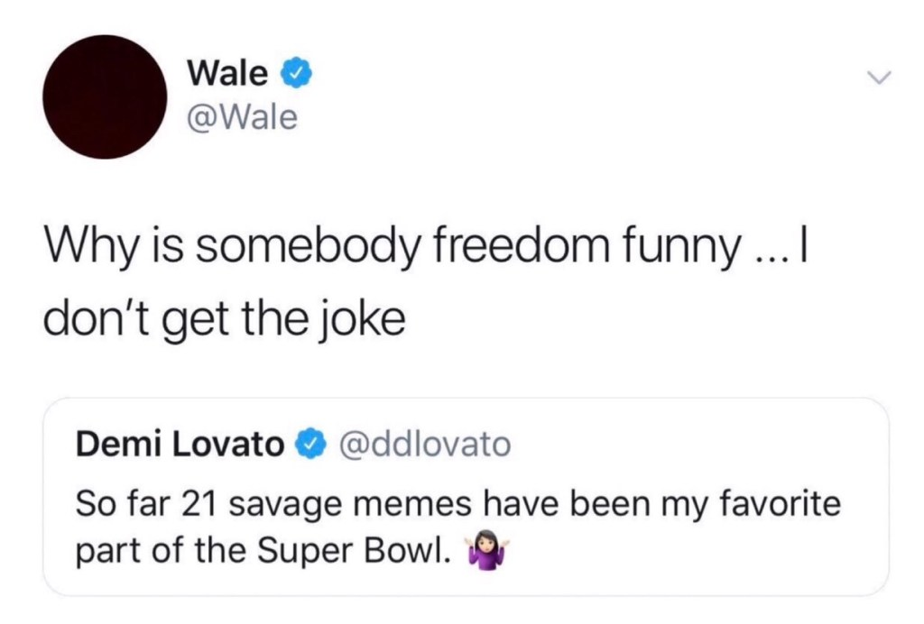 Wale tweet at Demi Lovato