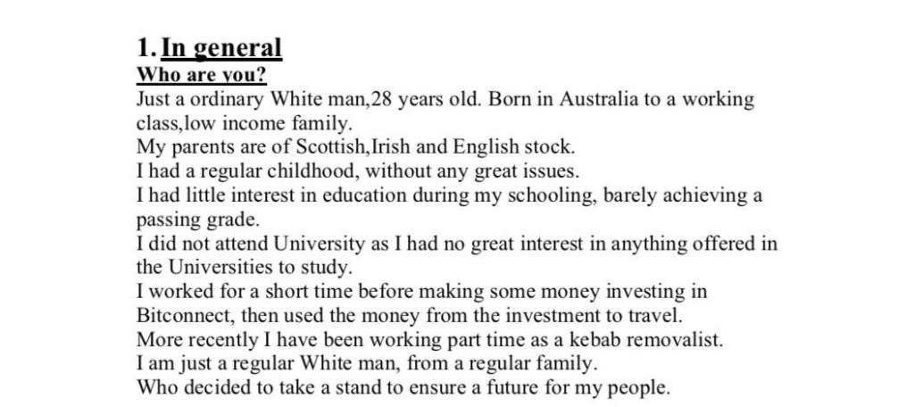 Brenton Tarrant manifesto