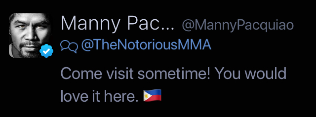 Manny Tweets Conor
