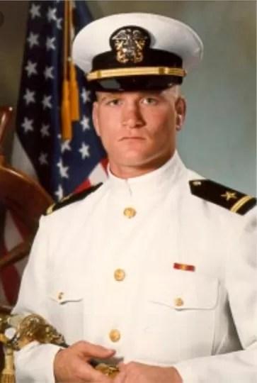 Tony Bobulinski in navy uniform