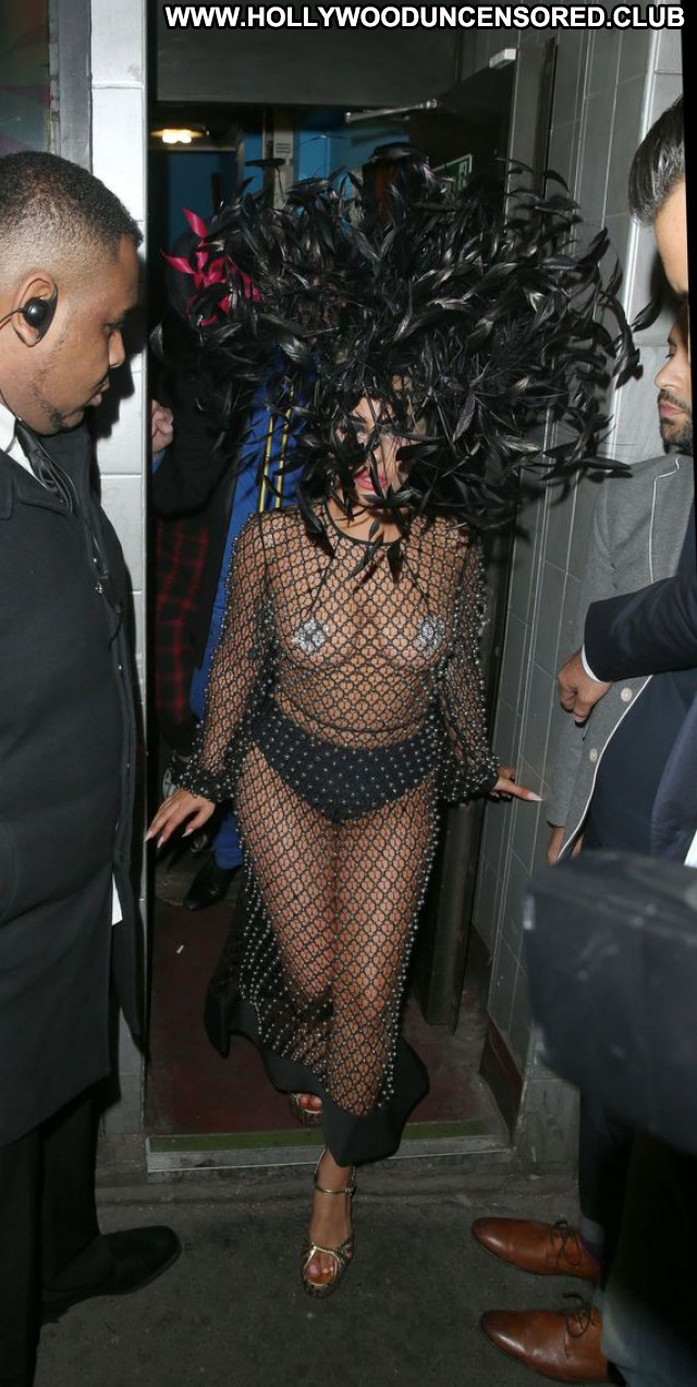 Lady Gaga American Topless Babe Celebrity See Through Paparazzi