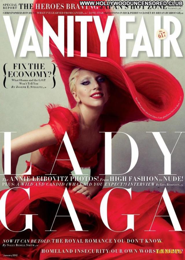 Lady Gaga Vanity Fair Bed Heels Singer Gag Babe Celebrity Breasts Sex