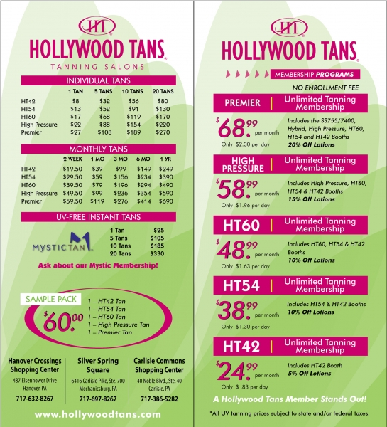 Tanning Packages Hollywood Tans Pa