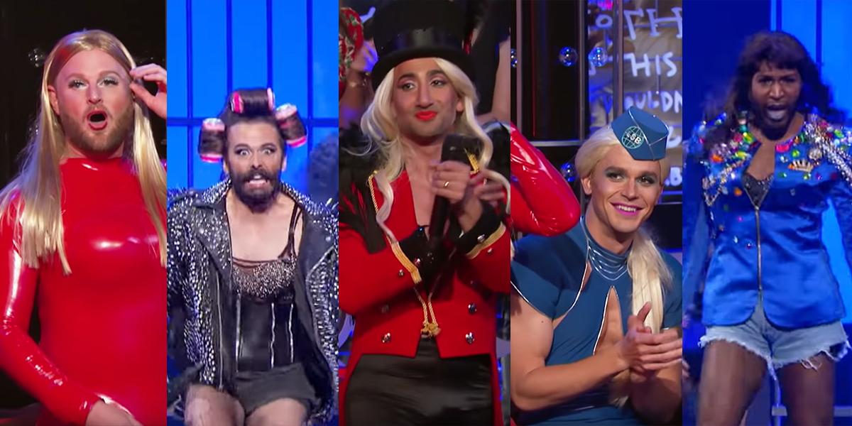 """Die """"Queer Eye""""-Jungs geben uns Britney, Beyoncé & Gaga im Lip Sync Battle!"""
