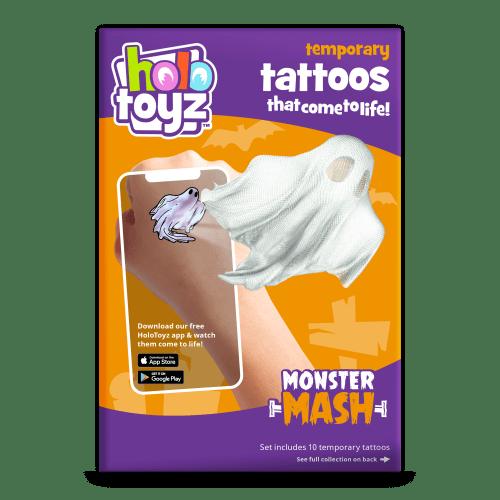 tatouage-temporaire-monster-fantome-qui prend vie holotoyz